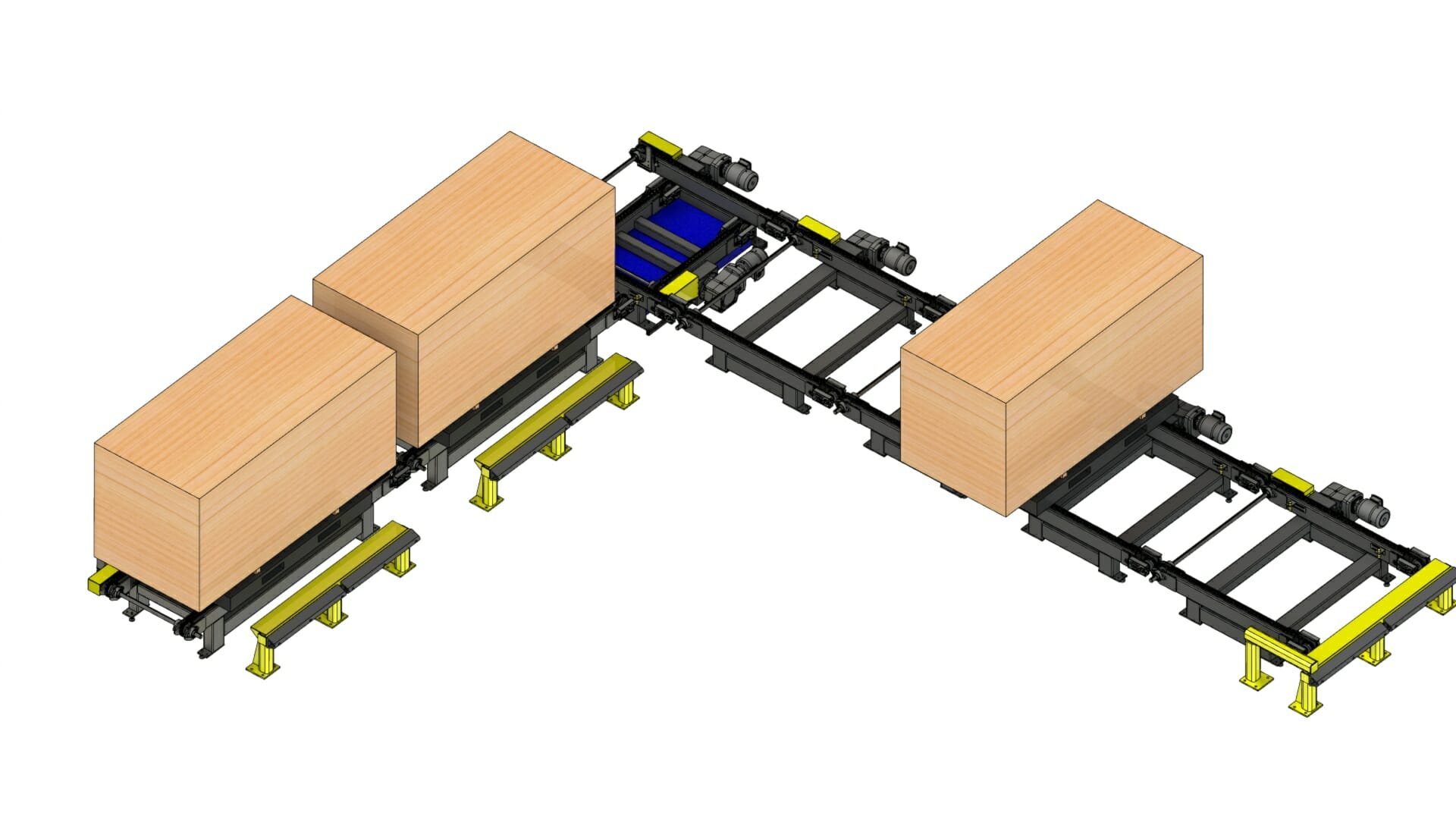 Solidworks - Automated Equipment – forestry / home building transfer conveyors