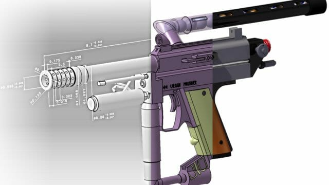 Solidworks - CATIA - Product Development – CAD Design of an Autococker